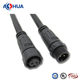 m12 ip67 waterproof wire 2 pin cord connector