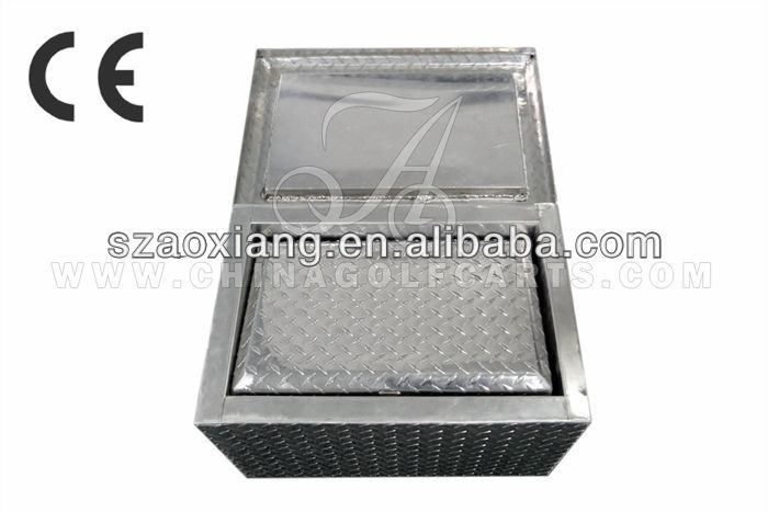 Picnic Aluminum Diamond Plate Ice Chest Cooler For Golf