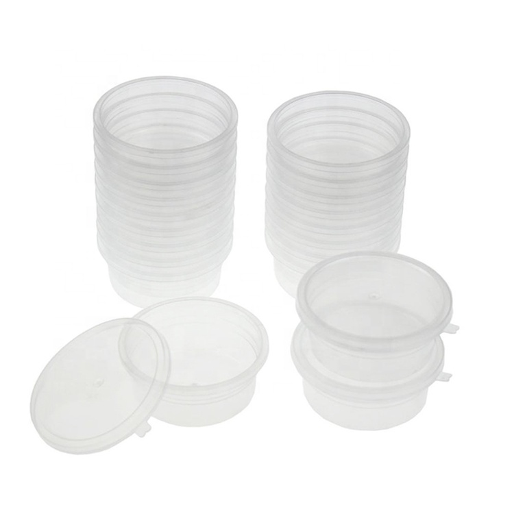 20 pcs Slime Storage Containers Foam Ball Storage Cups Containers With Lids (clear)