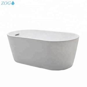 Simple Design Small Oval Hotel Freestanding Used Bathtub