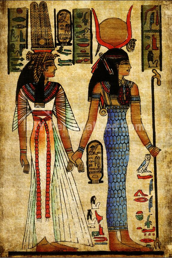 Egyptian mural modern home decoration paintings abstract decorative art on canvas painting