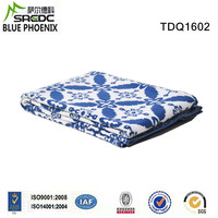 BLUE PHOENIX custom jacquard knitted pattern cotton sari blanket quilts
