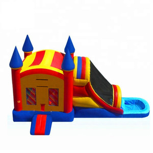Commercial grade bounce round water slide,commercial inflatable bounce house,inflatable bounce and slide
