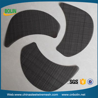 Plastic recycle use plain twill dutch herringbone weave black wire cloth