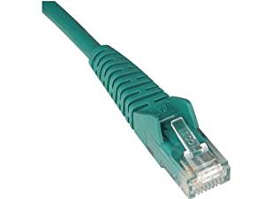 Tripp Lite Cat5e 350MHz Snagless Molded Patch Cable (RJ45 M/M) - Green, 20-ft.(N001-020-GN)