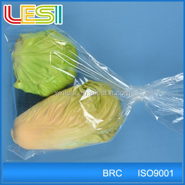 CPP OPP custom printed breathable Microperforated Plastic vegetable Bag