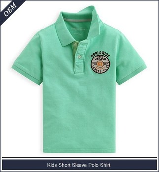 Oem Kids Polo Shirt Embroidery Designs