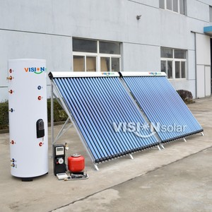 Closed Loop High Pressure Split Solar Water Heater Germany with heat pipe collector