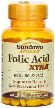 Sundown Naturals Folic Acid Xtra Vitamins Caplets 60 Tabs By Sundown  Naturals - Buy Heart & Cardiovascular Health Product on Alibaba com