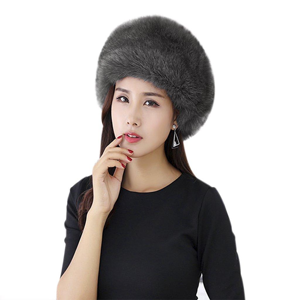 Women's Winter Faux Fur Cossak Russian Style Hat Headband Earmuff Cap