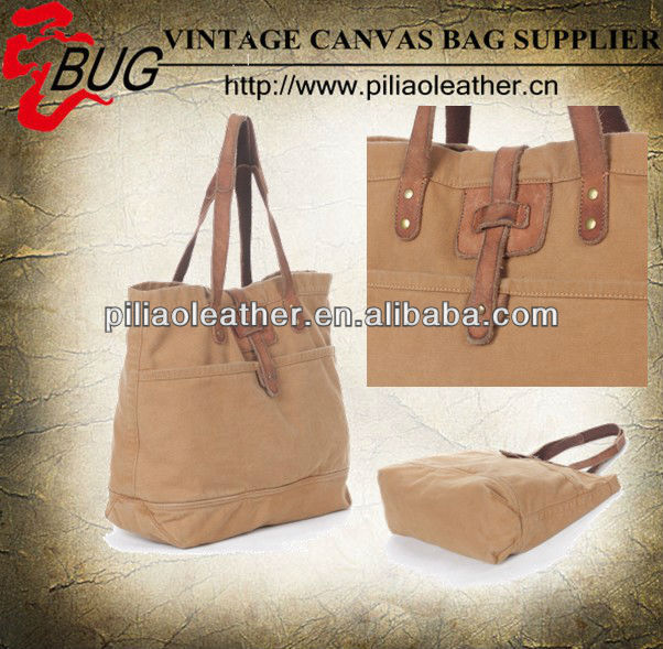 Designer high quality canvas and cool leather brand unisex tote handbags