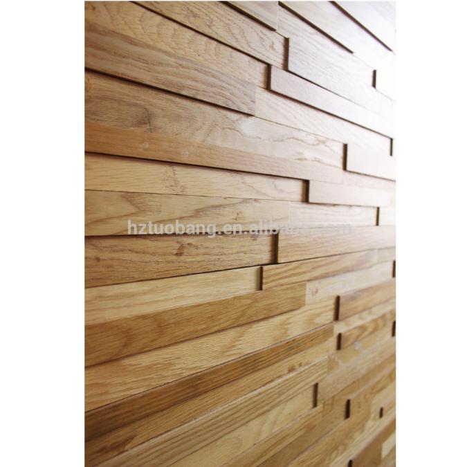 Reclaimed wood planks slats 3d wall panel