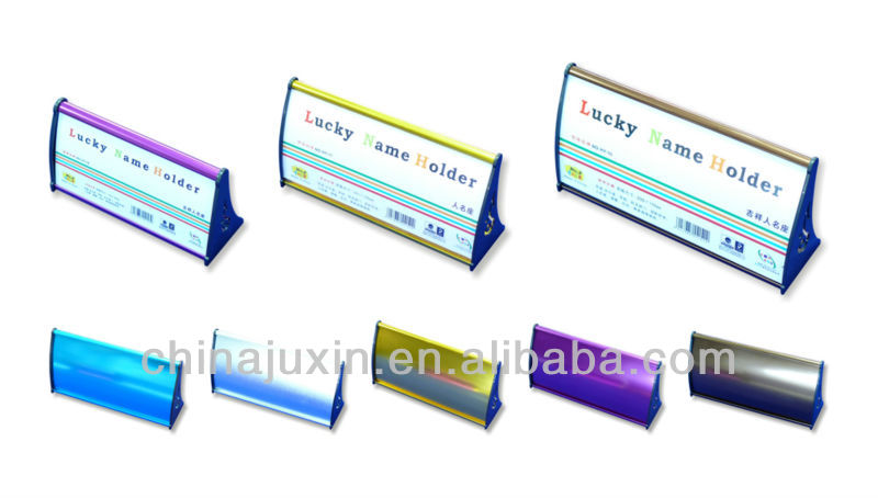 Anodized Aluminum Desk, Door and Wall Name Plate Holders