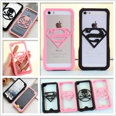 New arrival fashion 3d cute superman case soft silicone ...