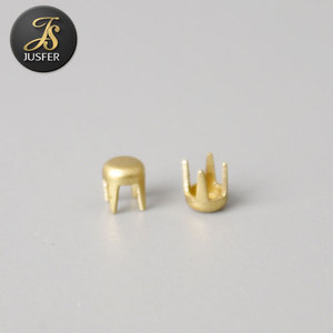 Flat back round prong studded nailhead metal studs for clothing