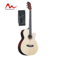 "39"" electric acoustic guitar electro-acoustic folk with pickup EQ-7545 low price W-914C"