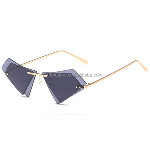 YTSJC77637 Wholesale Europe vintage double triangulated sunglasses