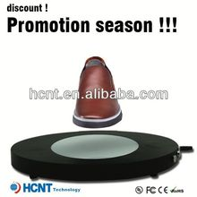 new invention ! magnetic levitating led display stand for shoe woman,shoe cart