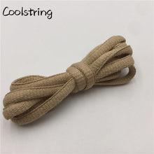 Coolstring крутые 6 мм ширина модные атлетические овальные шнурки кроссовки Ropelaces однотонные баскетбольные шнурки идеальные шнурки для обуви(Китай)
