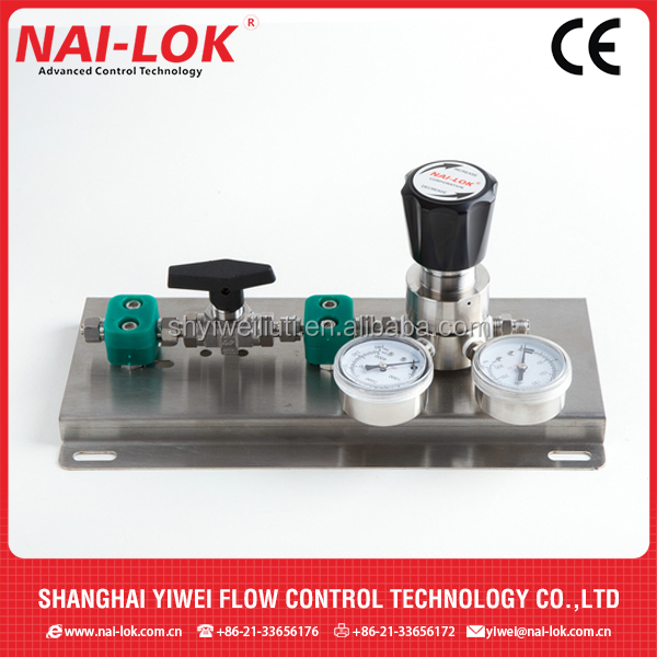 Control panel regulator SS316 NAI-LOK for gas only