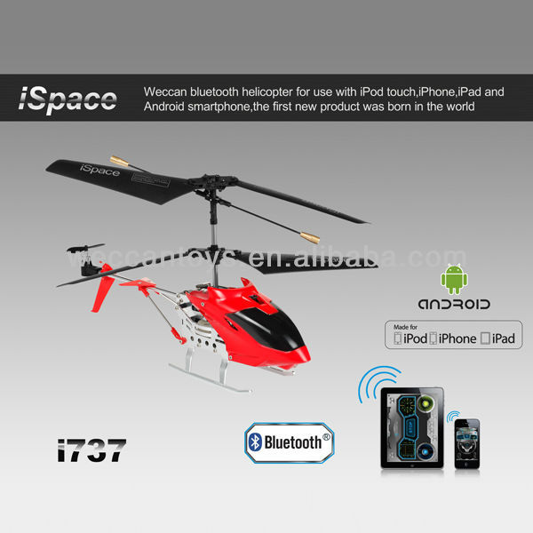 work with iOS and Android devices and full function of 3 channel with gyroscope Bluetooth rc helicopter