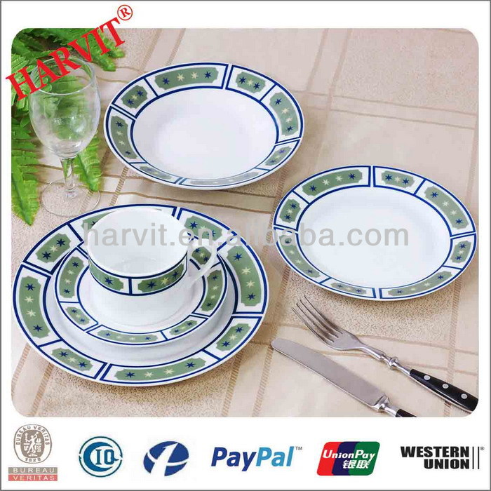 Fashionable Kitchenware Set/Ceramic Dinnerware Sets 20PCS/White Dinner Ware With Flower Decor Dubai Wholesale Market Used