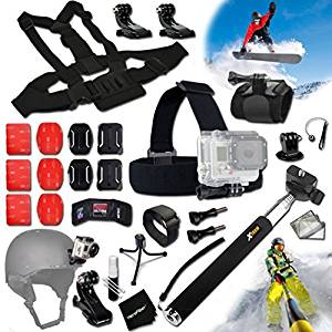 Xtech® SKATEBOARD ACCESSORIES Kit for GoPro Hero 4 3+ 3 2 1 Hero4 Hero3 Hero2, Hero 4 Silver, Hero 4 Black, Hero 3+ Hero3+ Hero 3 Silver, Hero 3 Black and for Skiing, Ski-Bobbing, Ski Jumping, Snowboarding, Skateboarding, Rollerblading, Skating, Ice Skating, Roller Skating and other Similar Sports