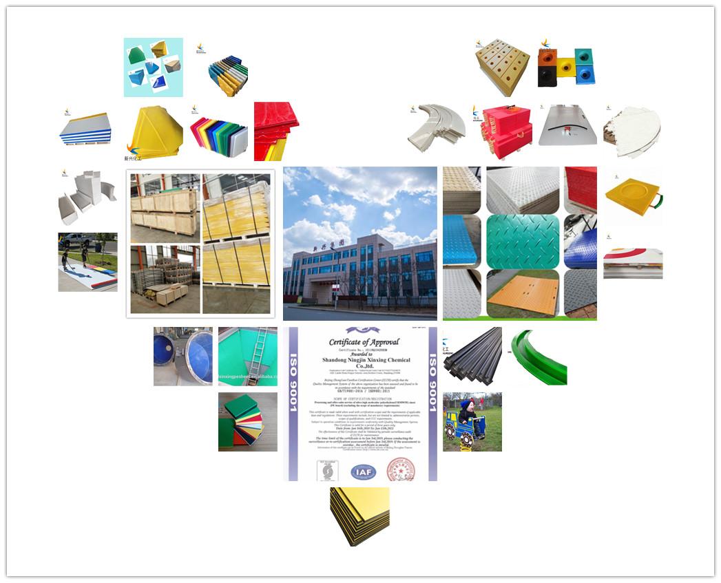 HDPE/UHMWPE schwere last kapazität kran ausleger pad Jack stabilisator pads