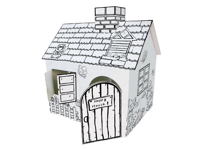 bricolage peinture enfants mini maisons carton papier. Black Bedroom Furniture Sets. Home Design Ideas