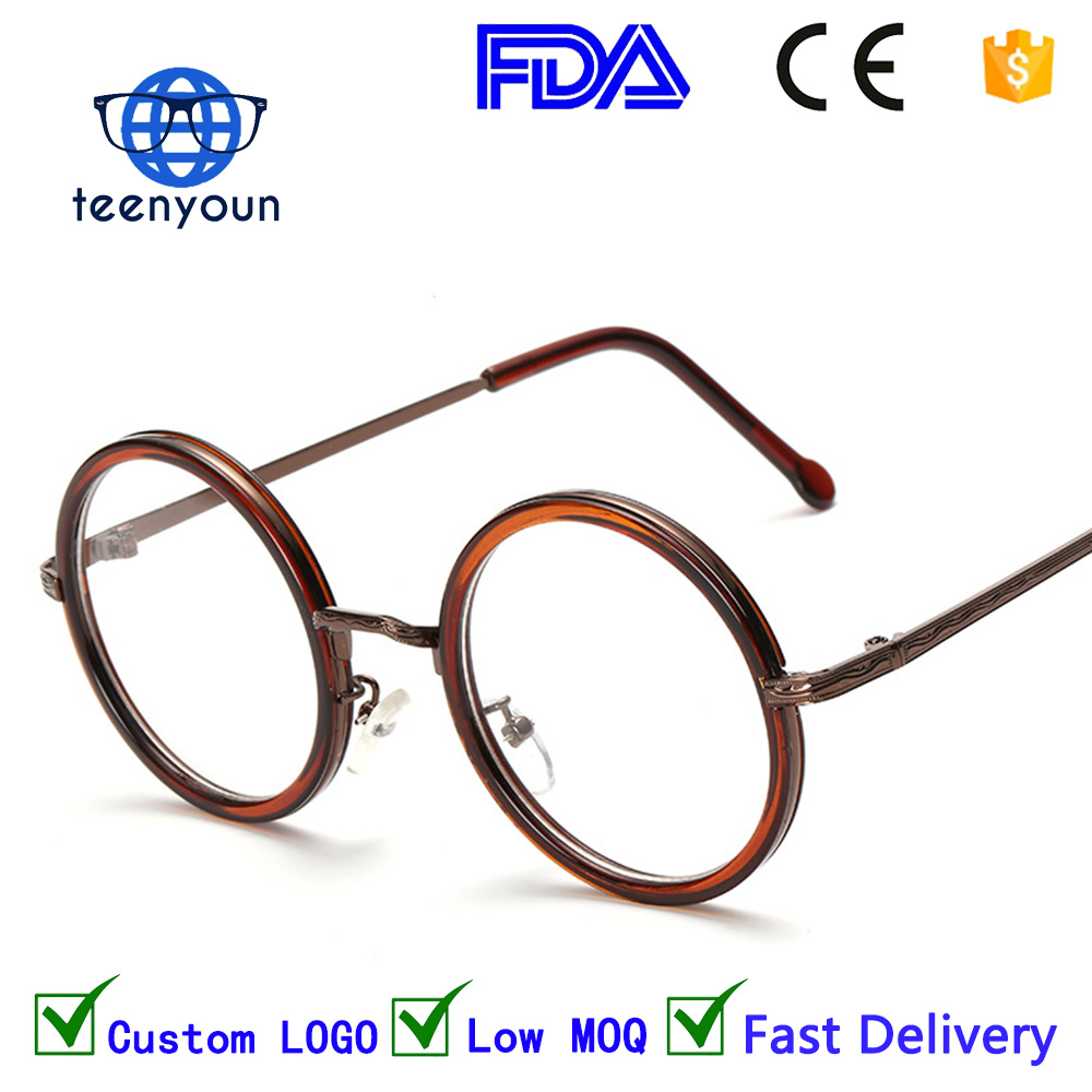 8811w Hot Women Men Big Round Glasses Frames Newest Purely italian eyewear Handmade Vintage Optical Eye Frame Plain Glass