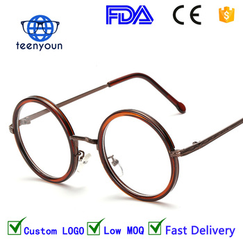 8811w Hot Women Men Big Round Glasses Frames Newest Purely Italian ...