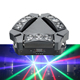China Supply New 9pcs 12W RGBW 4in1 LED Three Sides Tri Portable Mini Spider Beam Moving Head Light For Sale
