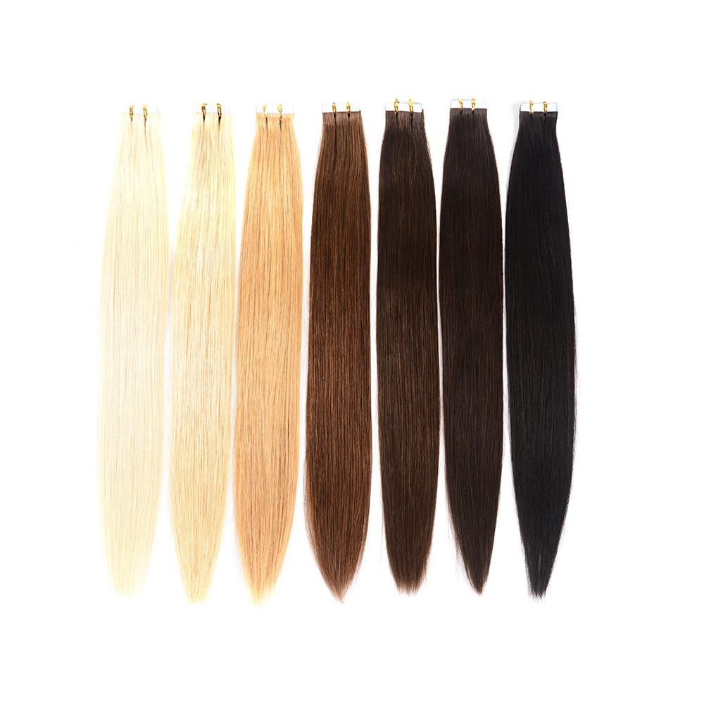Blond kleur 18 inch tape hair extensions