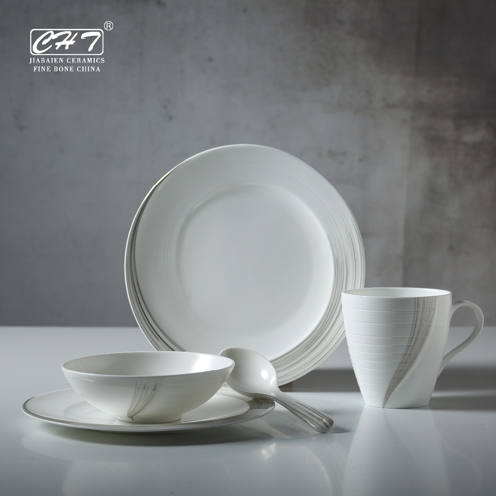 Fine China Breakfast Dinnerware Set