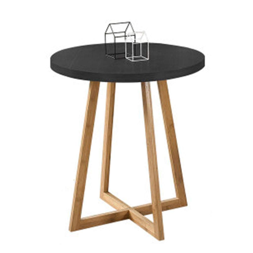 Coffee Tables Table Dining Room Living Room Small Balcony Round Table Small Table (Color : Black, Size : 808075cm)