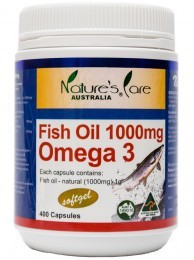 Nature's Care Fish Oil 1000mg (400 capsules) Omega 3 Australian made healthy dietary supplement