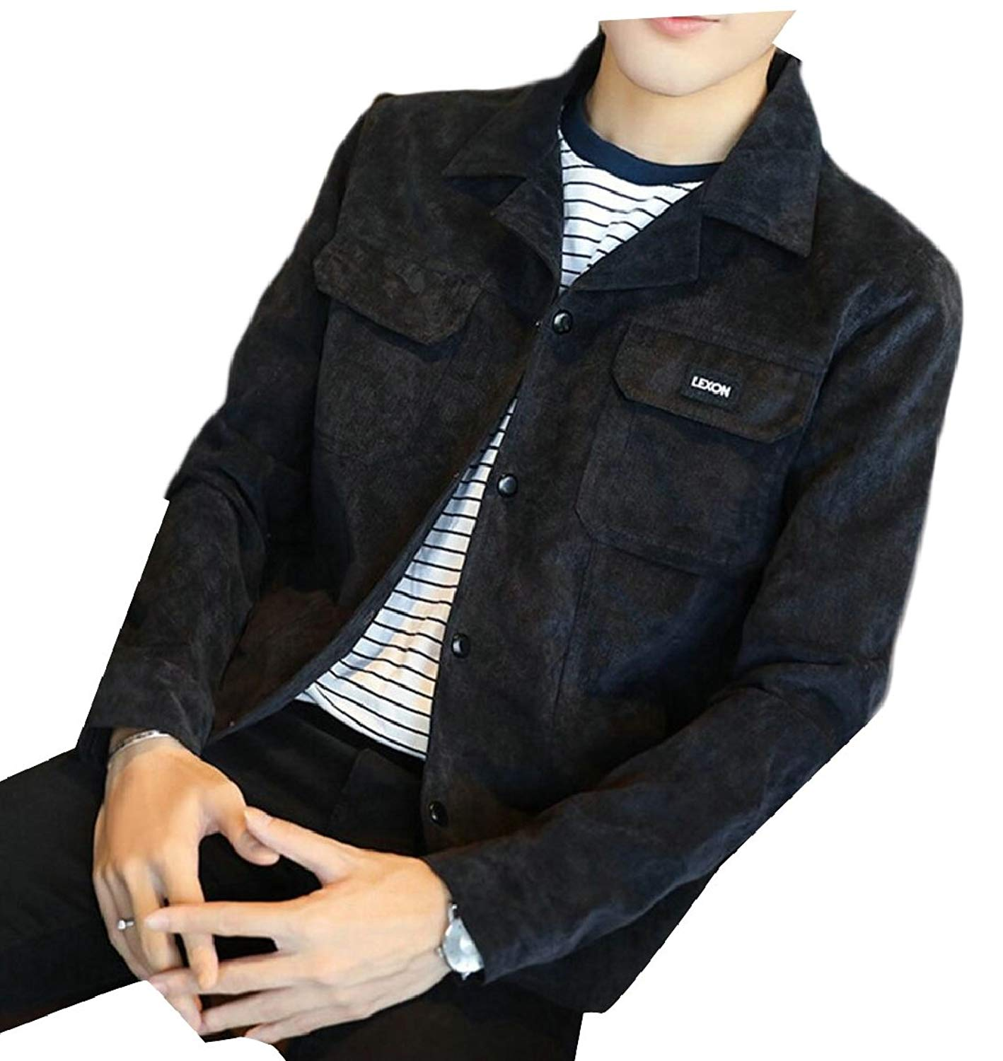 Smeiling Mens Fashion Thin Long Sleeve Jacket Lightweight Jacket Outweat