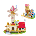 DIY 3D Wooden House blocks model Original Style villa model Educational toys Intelligence DIY jigsaw blocks