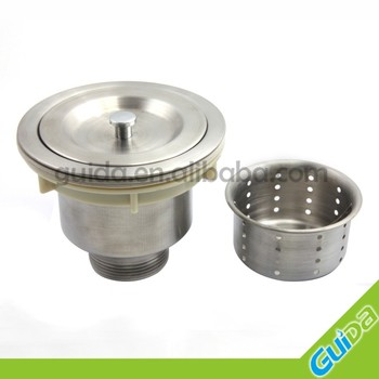 Kitchen Sink Basket Strainer Waste Plug Drainer Drain Stainless ...