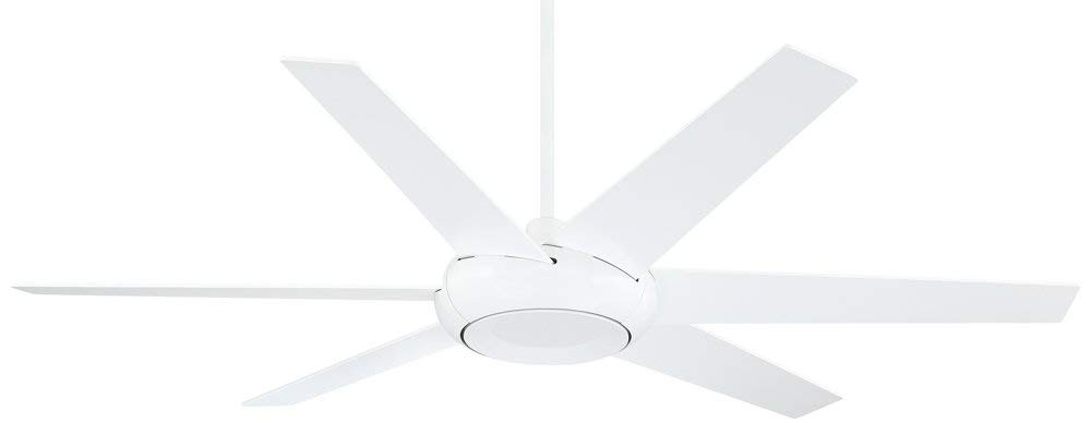 "60"" Casa Vieja Exposition White DC Damp Ceiling Fan"