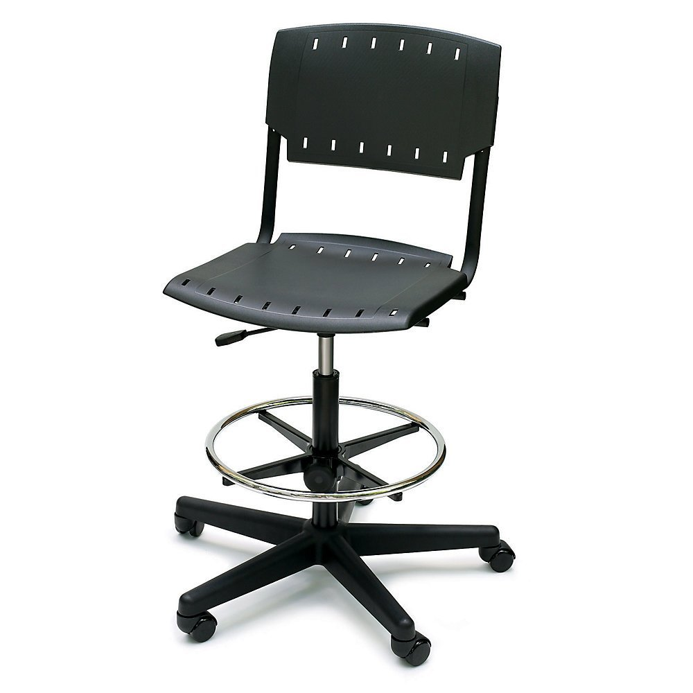 """Bevco Bench-Height Stool With Replaceable Cushions - 22-32"""" Seat Height"""