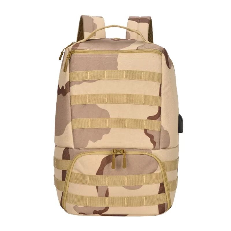 Camouflage Military Backpack Camping Tactical Hiking Rucksack Double Shoulder
