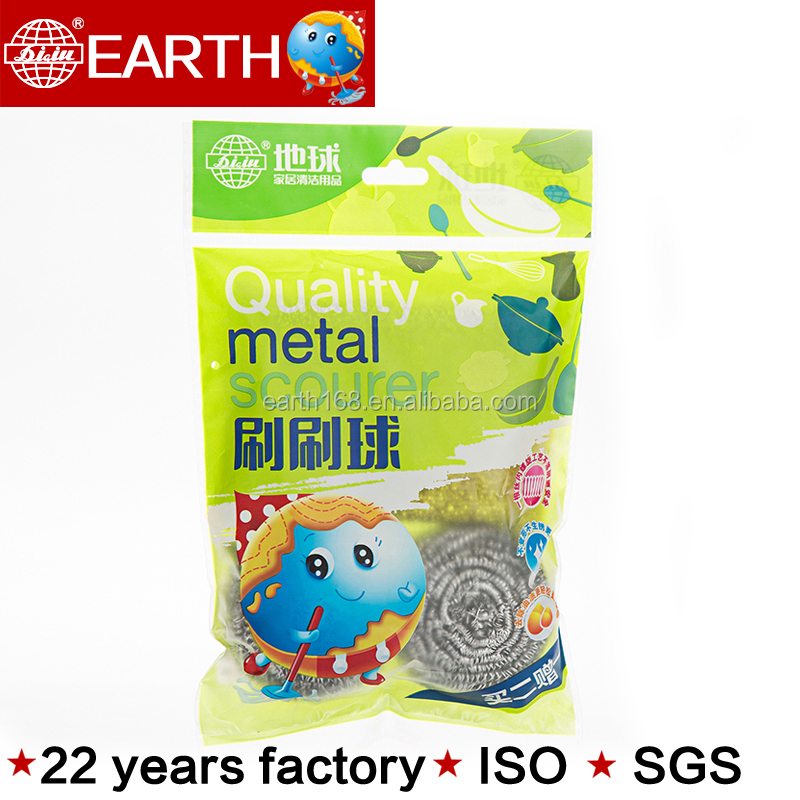 Yiwu made daily use kicthen sponge SS410 scrubber cleaning ball for household