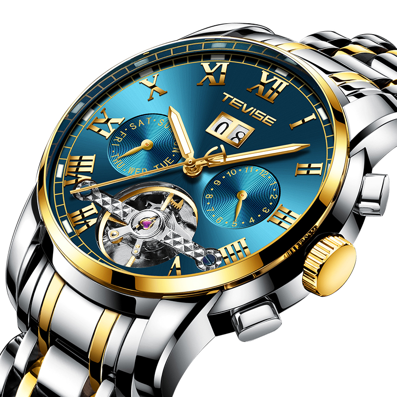 Automatic Watch With A Waterproof Men's Leisure Watch,Hot Selling Watch have A Tourbillon Function For Tevise New Style Brand, Any color are available