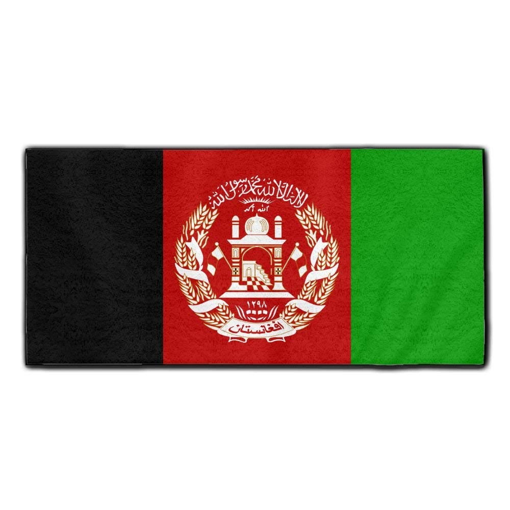 ChunLei Afghan Flag Washcloths Face Towel Hair Care Towel Gym And Spa Towel Kitchen Dish Towel