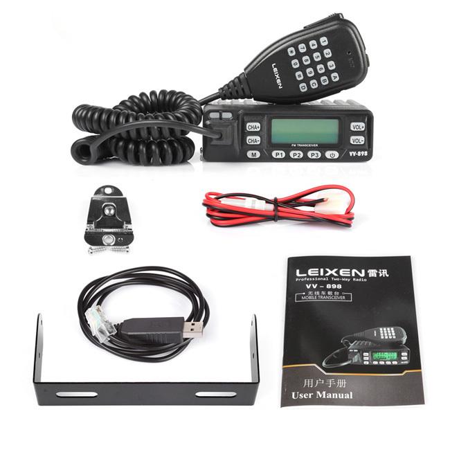 Leixen LX VV-898 двухдиапазонный VHF / UHF 136-174 / 400 - 470 мГц 10 Вт скремблер DTMF дб, кабель для программирования в комплекте