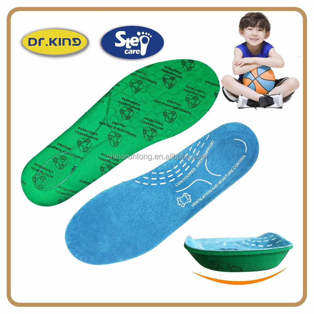 Comfortable leather kids insole for child