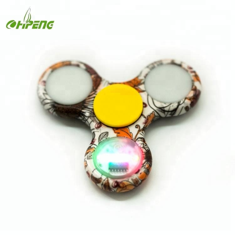 Promotional colorful glitter electric finger spinner for night