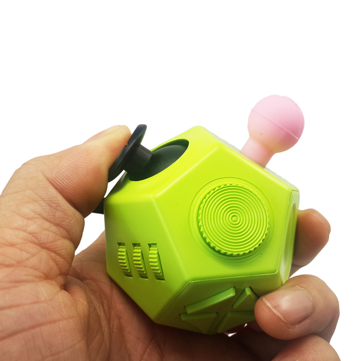 Hot selling high quality fidget cube 12 sided Cube