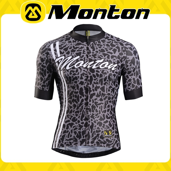 Monton sublimation short sleeve bicycle jersey /cycling racing top with high quality miti fabric quick comfortable